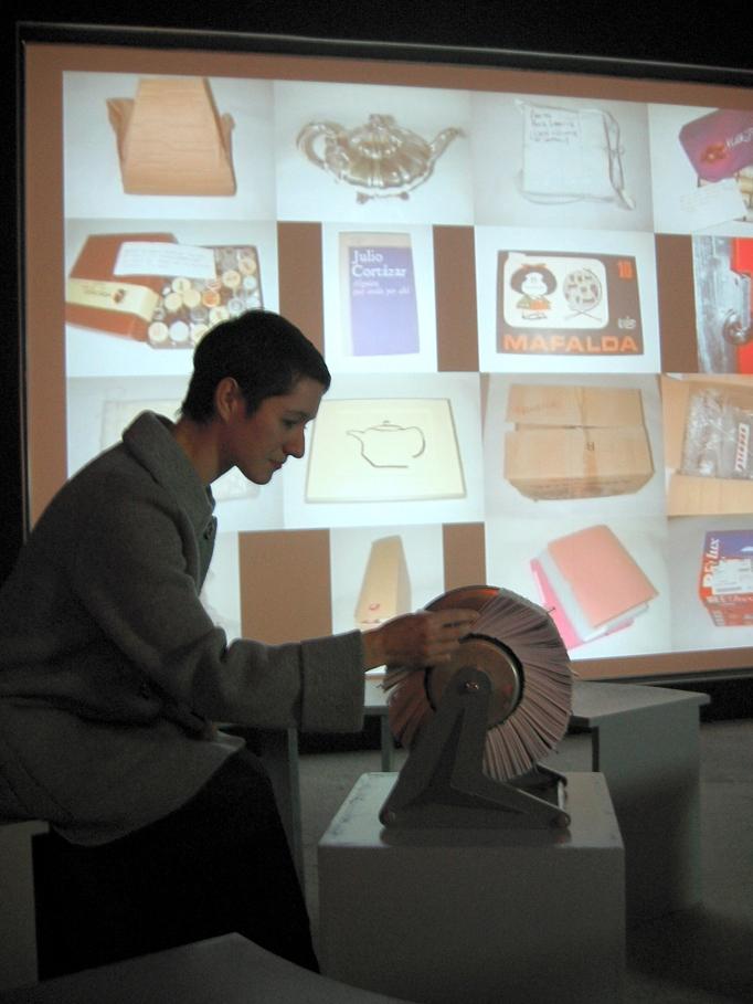 Installation CCC Tours 2005 - Fichier mécanique et Projection vidéo